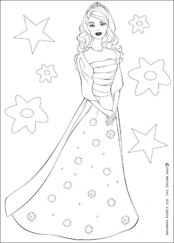 Dibujos para colorear barbie gala - es.hellokids.com