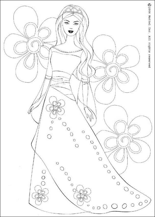 Dibujos para colorear barbie princesa - es.hellokids.com