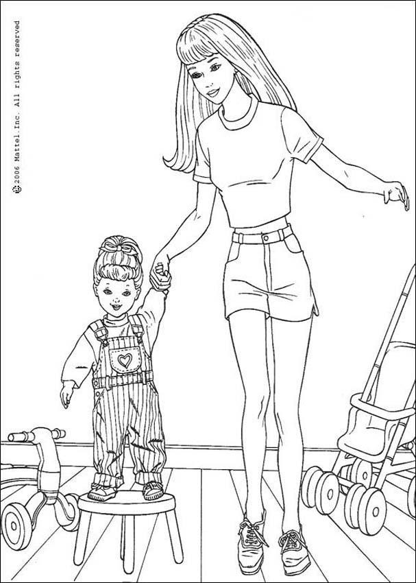 Dibujos para colorear barbie  eshellokidscom
