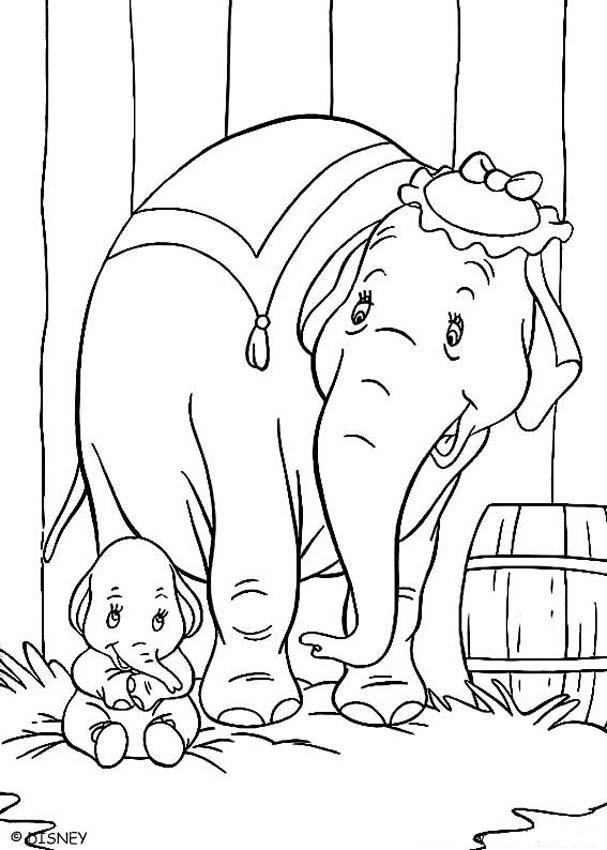 Dibujo para colorear : Dumbo bebé