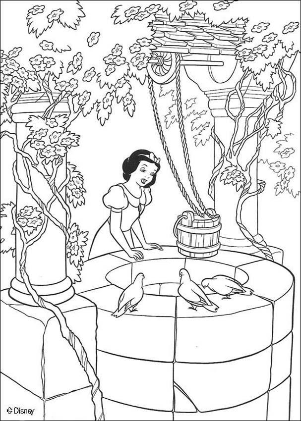 Dibujos para colorear la casa de los enanos 1 - es.hellokids.com