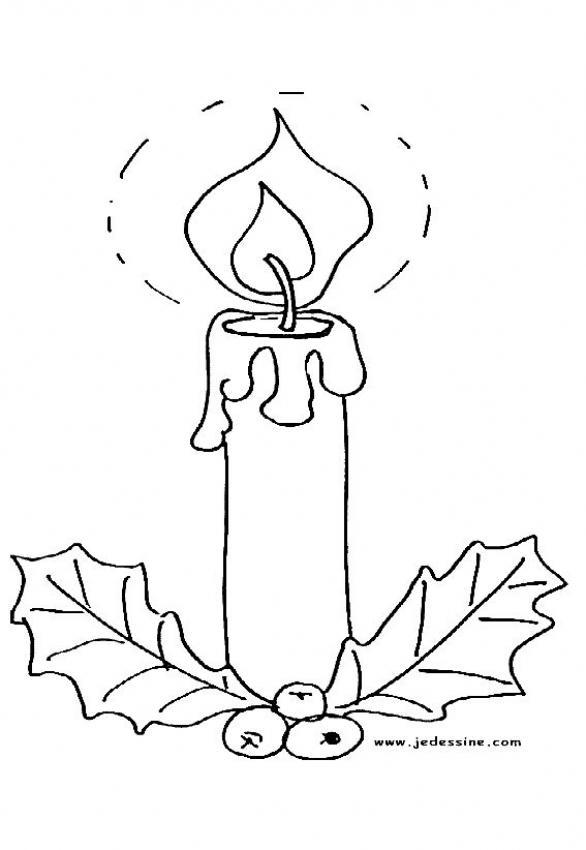 Dibujos para colorear vela de noche buena - es.hellokids.com