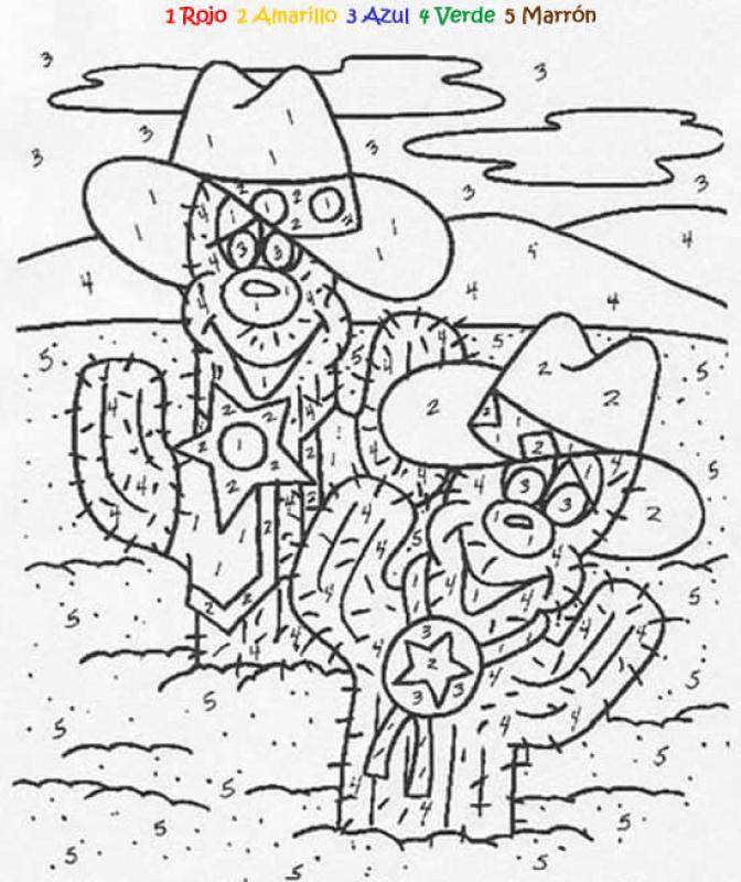 Dibujos para colorear juego de pintar cactus - es.hellokids.com