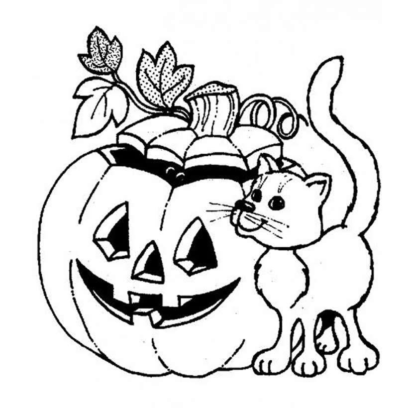 Dibujos para colorear una calabaza - es.hellokids.com