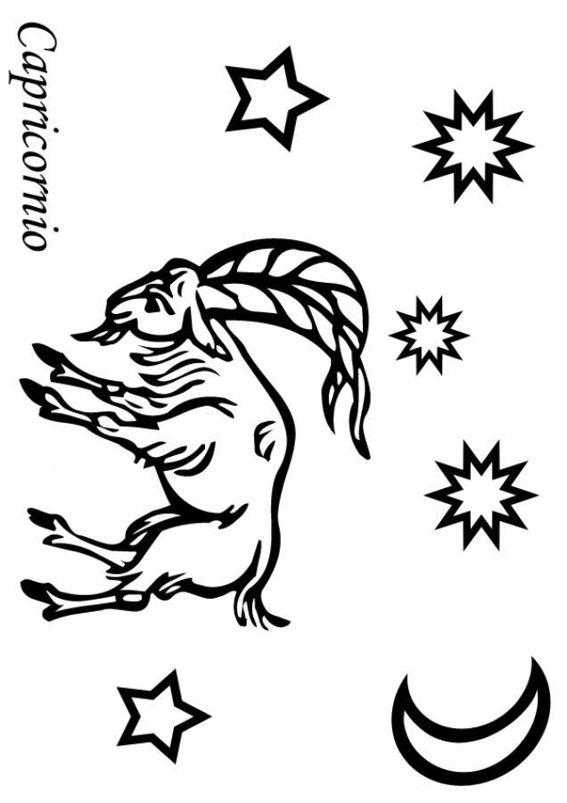 Dibujo para colorear : Capricornio
