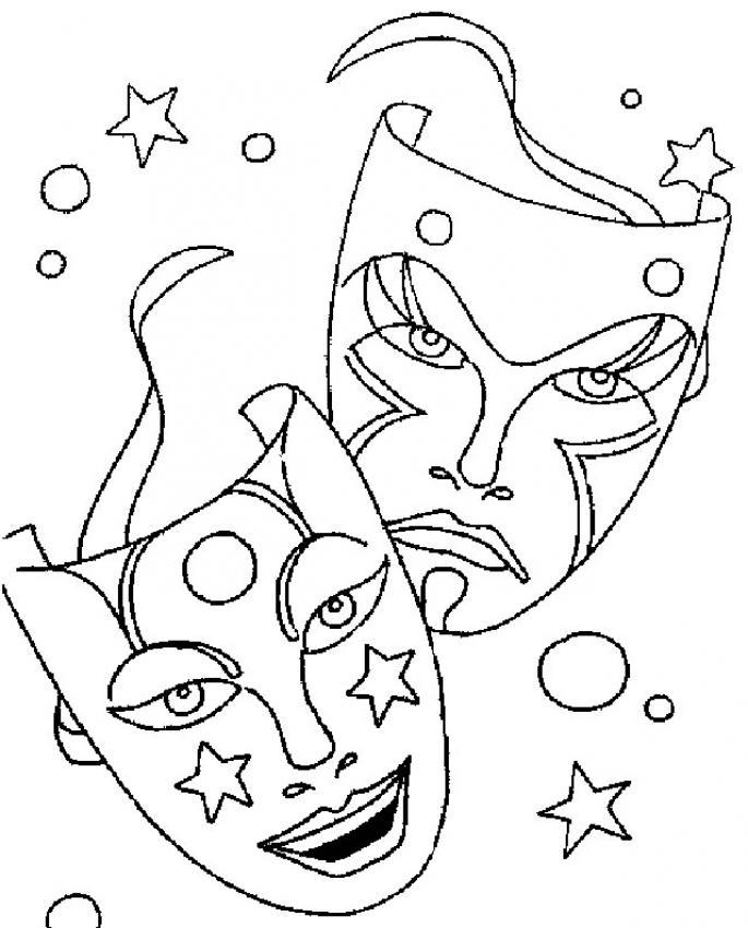 Dibujos de MASCARAS para colorear - Máscaras galácticas