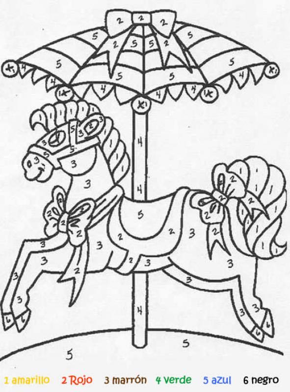 Juego infantil : Juego de pintar CARRUSEL
