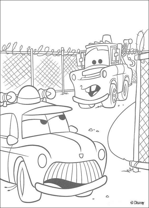 Dibujos para colorear cars 13  eshellokidscom