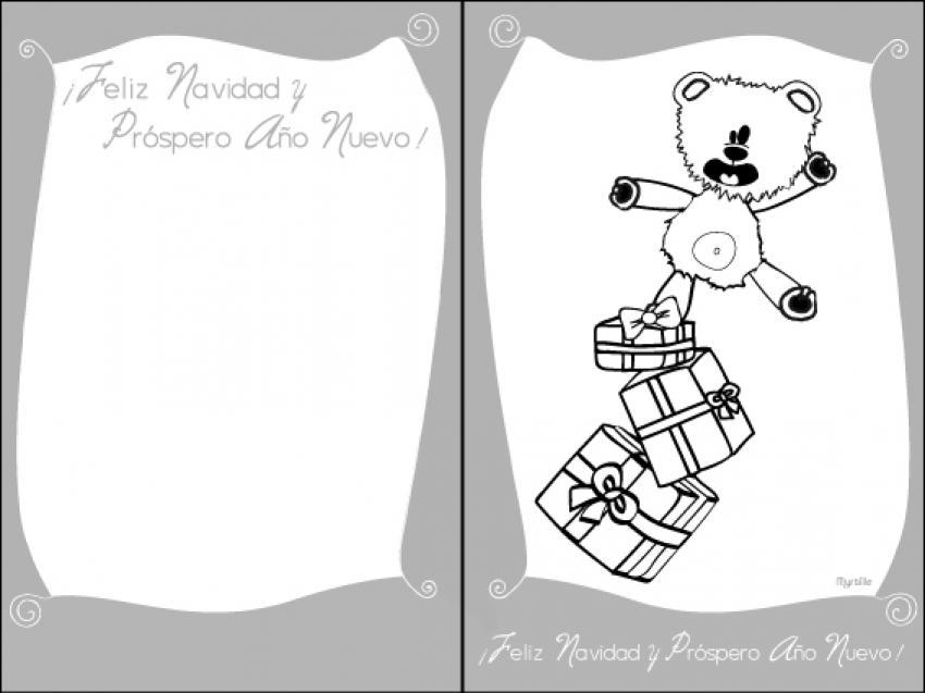 TARJETAS DE NAVIDAD para imprimir - 12 decoraciones de Navidad para ...