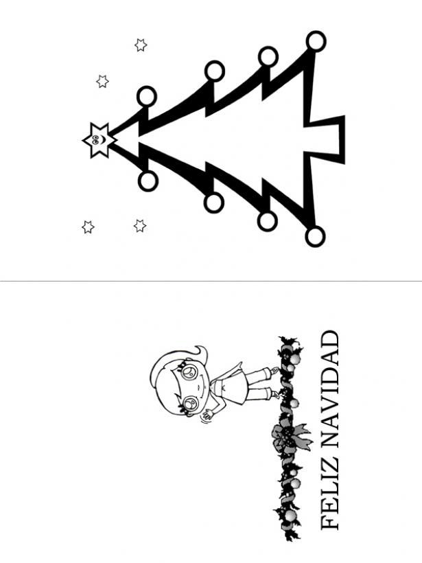 Dibujos Para Tarjetas De Navidad Para Ninos.Actividades Manuales De Tarjeta Para Navidad Arbol Y