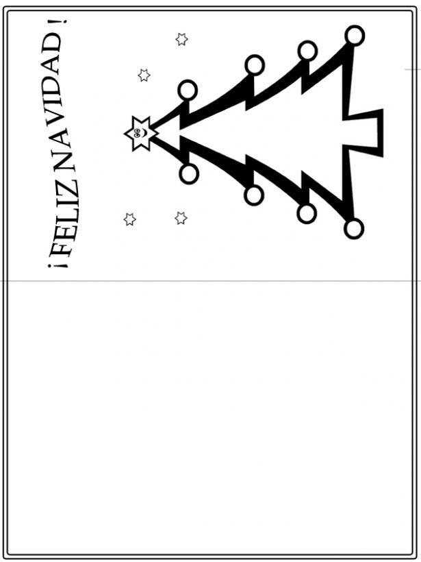 Tarjetas de navidad para colorear manualidades para nios auto design