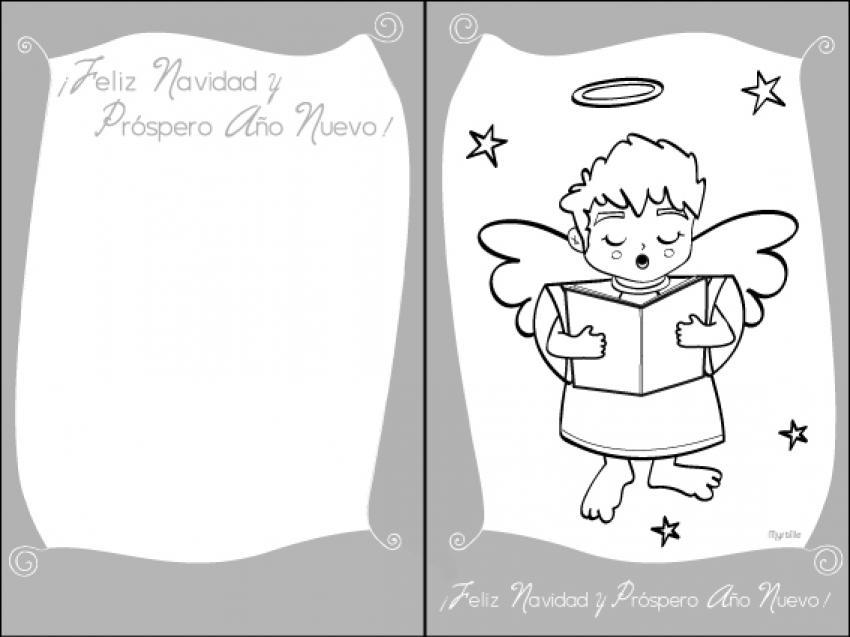 Actividades manuales de tarjeta para navidad, angelito - es ...
