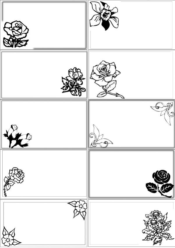Dibujo para colorear : Cartas para ofrecer N°1
