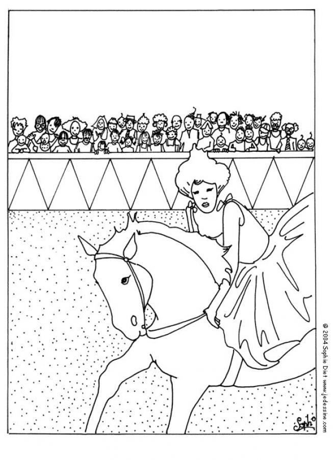 Dibujos para colorear caballera de circo  eshellokidscom