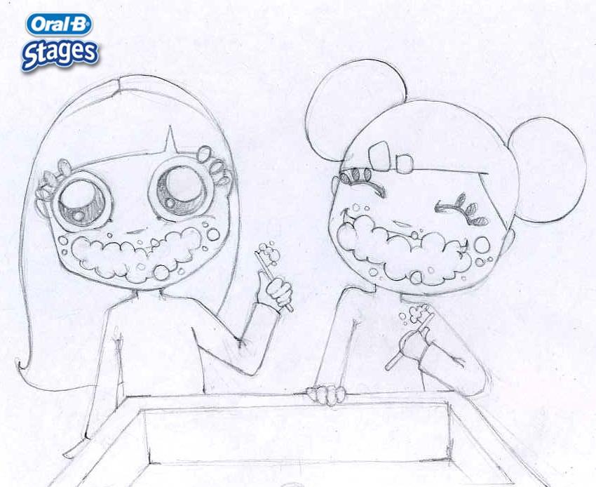 Dibujos para colorear cepillo de dientes  eshellokidscom