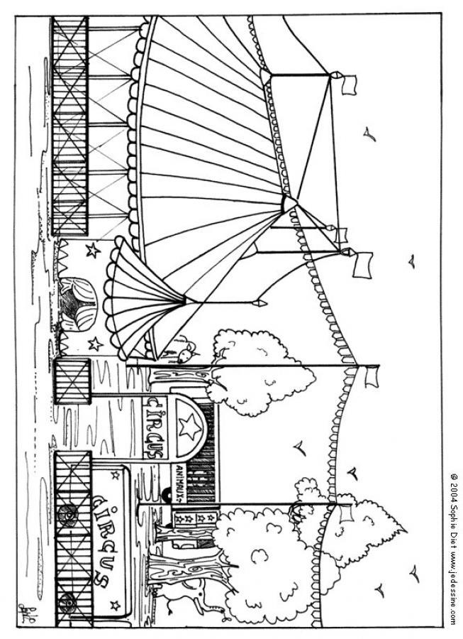 Dibujos para colorear carpa de circo  eshellokidscom