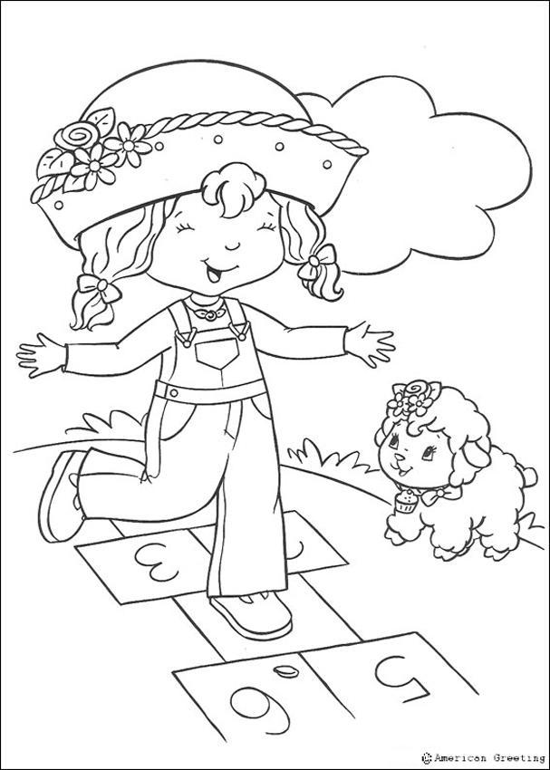 Dibujos para colorear tarta de fresa y galletita  eshellokidscom