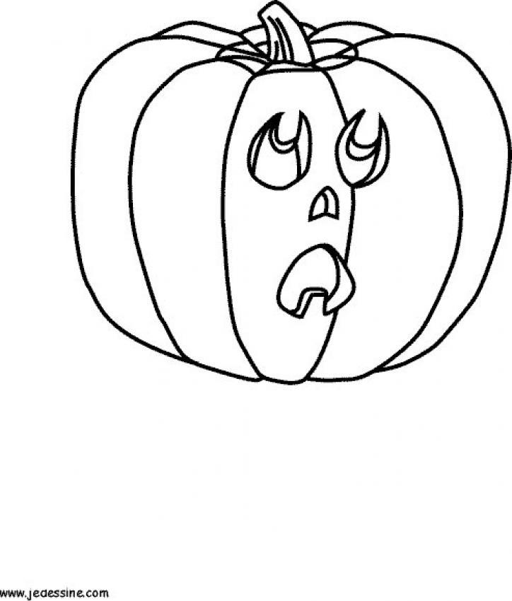 Dibujo para colorear : La calabaza de halloween