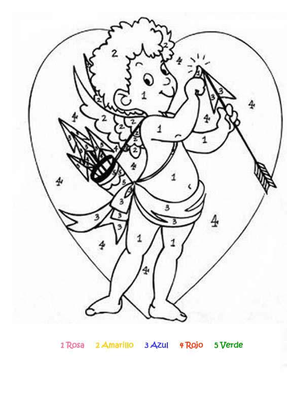 Dibujos para colorear cupido - es.hellokids.com