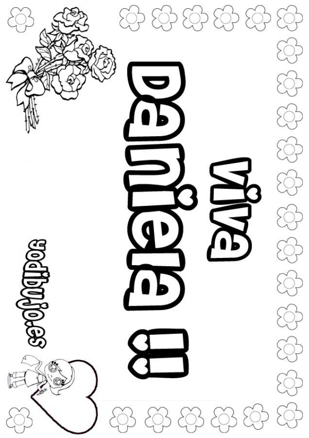 Nombre de niña para pintar : DANIELA