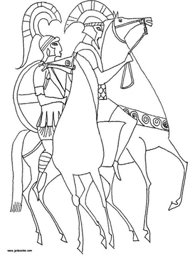 Dibujos para colorear leyenda de pegaso y bellrophon - es.hellokids.com