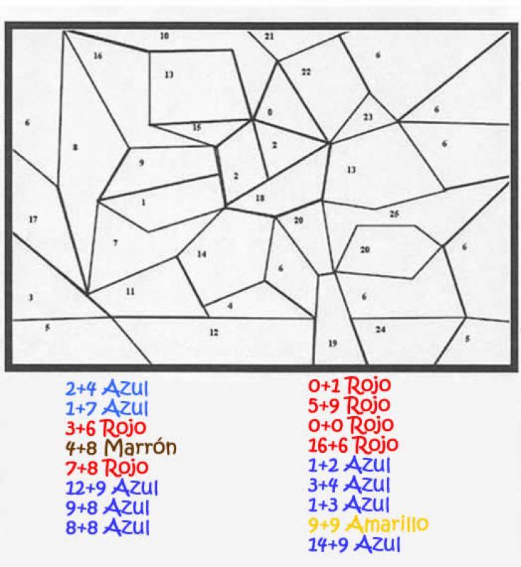 Dibujos para colorear dibujo magico calcular y colorear - es ...