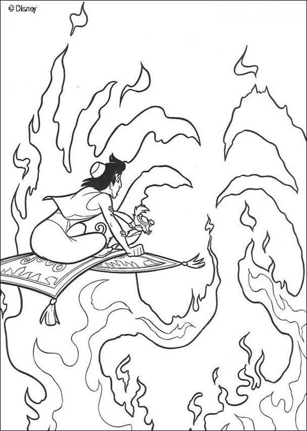 Dibujos para colorear ALADDIN DISNEY - 19 páginas Disney para imprimir