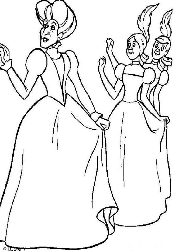 Dibujos para colorear lady tremaine, anastasia y dricella - es ...