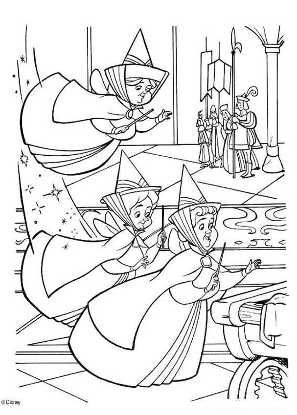 Dibujos para colorear las 3 hadas - es.hellokids.com