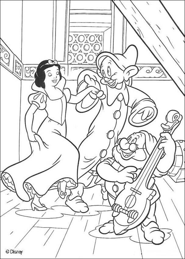 Dibujos para colorear BLANCANIEVES - 20 imagenes de Princesas para ...