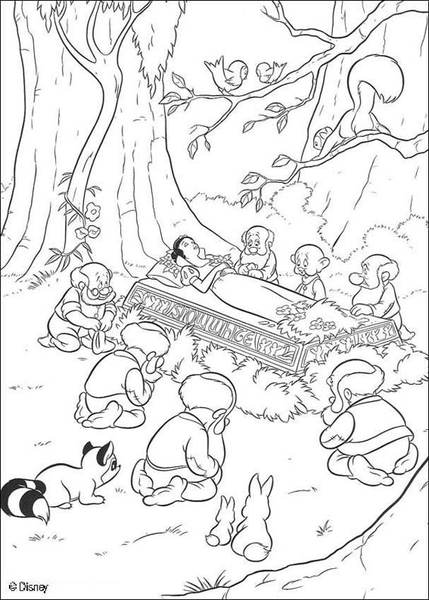 Dibujos para colorear muerte de blancanieves - es.hellokids.com