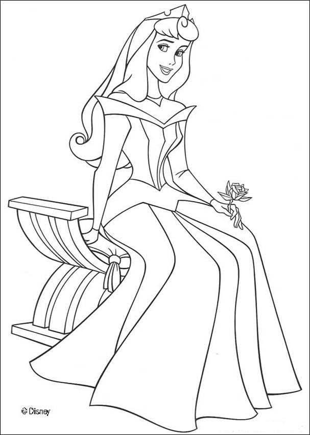 Dibujo para colorear : Princesa Aurora