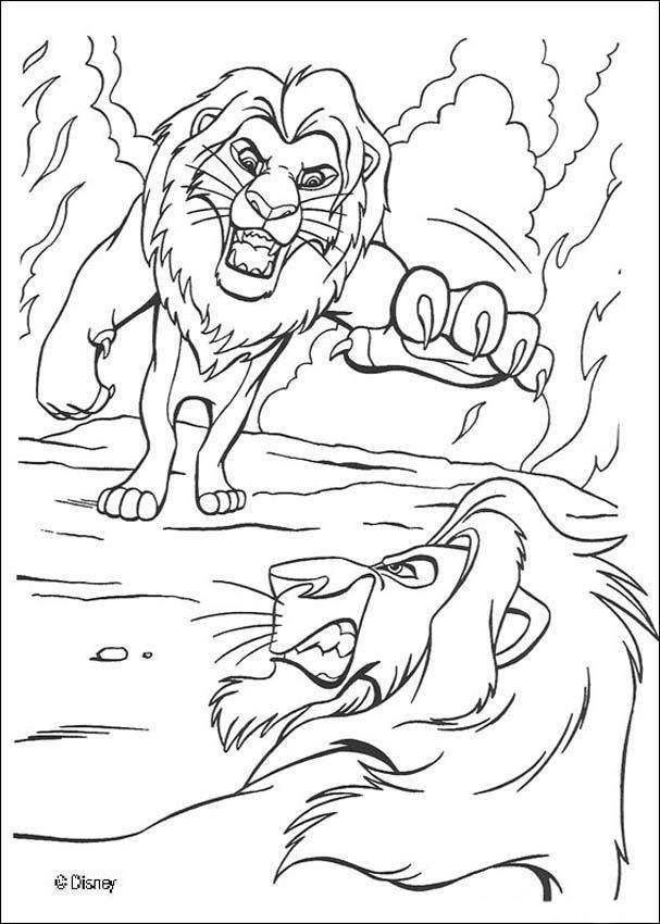 Dibujos para colorear scar y mufasa - es.hellokids.com