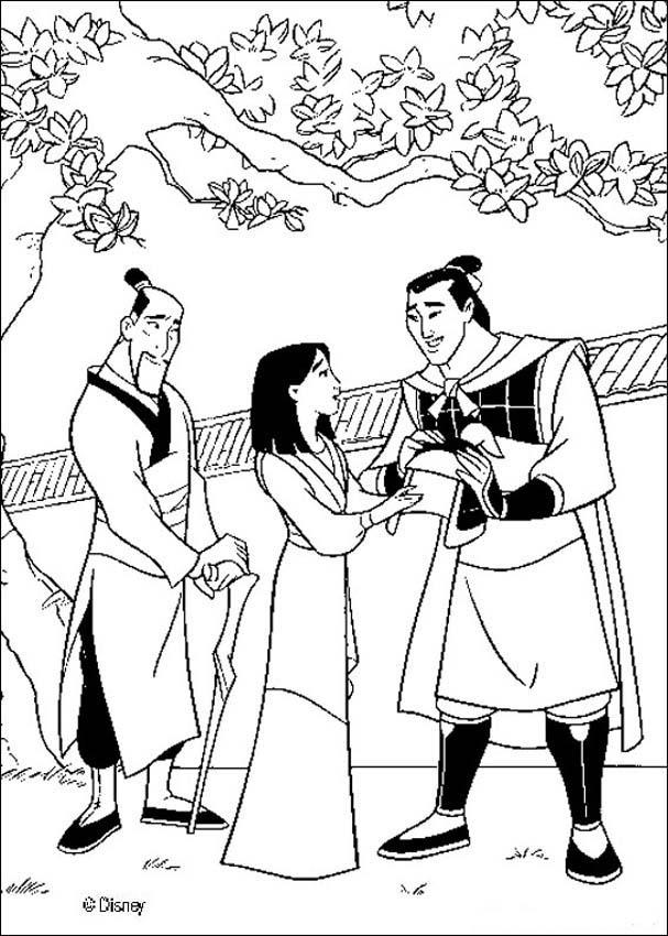 mulan shan yu coloring pages - photo#33