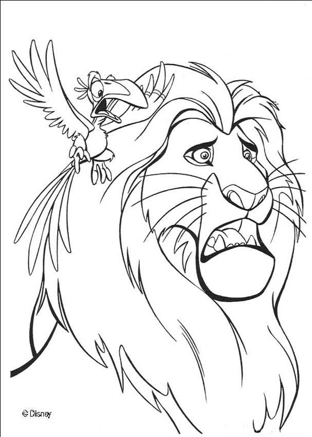 Dibujos para colorear REY LEON - 14 páginas Disney para imprimir
