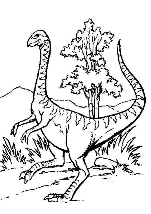 Dibujo para colorear : Psittacosaurus
