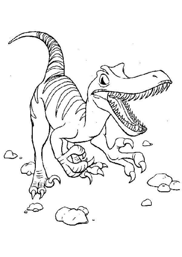 Dibujo para colorear : Velociraptor