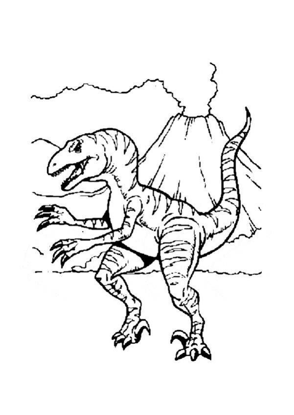 Dibujos para colorear tirex carnívoro - es.hellokids.com