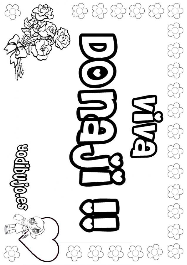 Dibujos para colorear donaji - Nombres de ninos para colorear ...