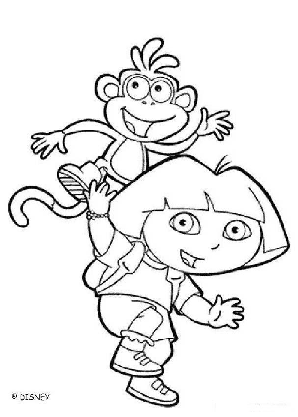 Dora y sus amigos para colorear - Dibujos para colorear - Imprime ...