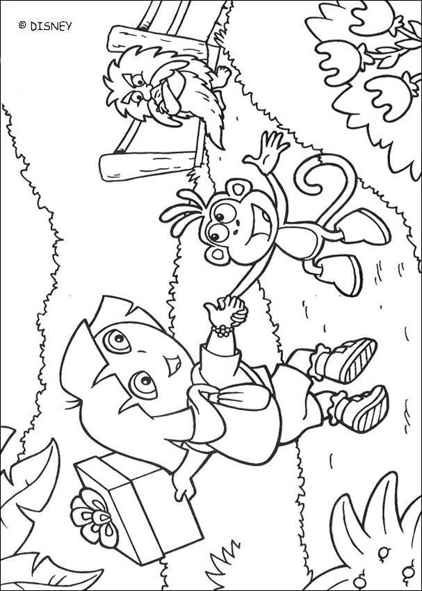 Dibujos para colorear dora y botas 3 - es.hellokids.com