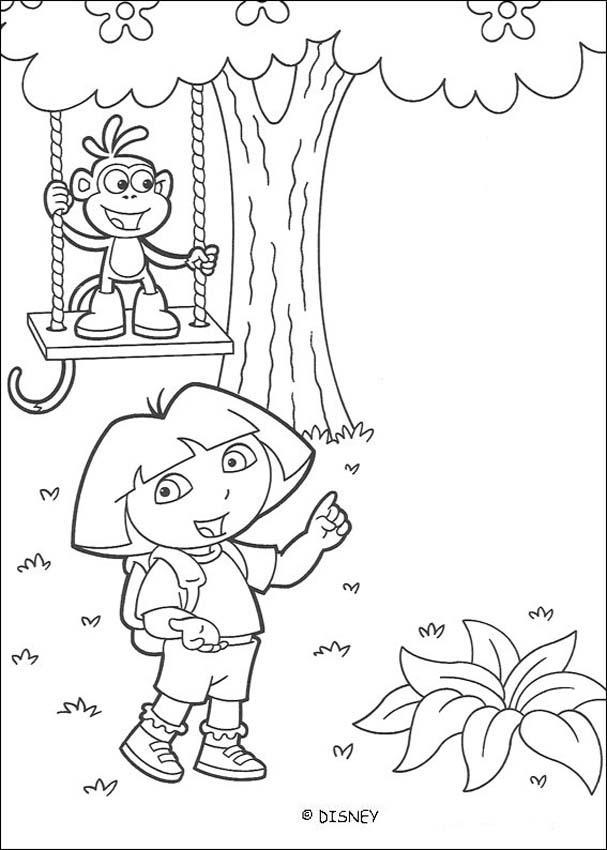 Dibujos para colorear dora y botas 5 - es.hellokids.com