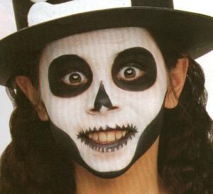 El esqueleto - Actividades - Fabricar con tus manos - Manualidades para cada fiesta del año - Fabricar materiales para Halloween - Maquillajes de Halloween