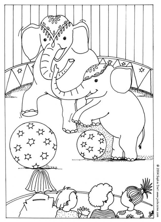 Circus para colorear - Imagui