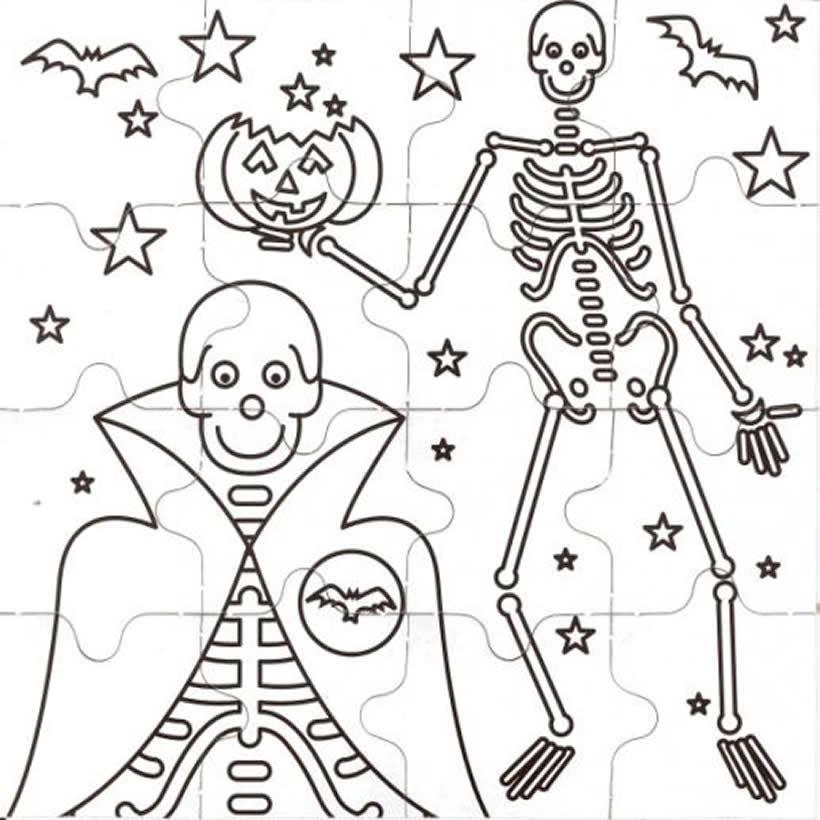 Dibujos para colorear un esqueleto espantoso para halloween - es ...