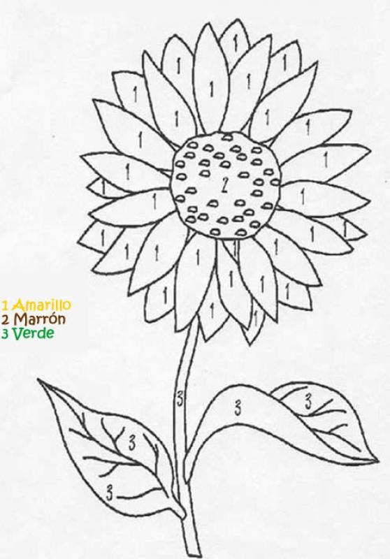 Juego infantil : Juego de colorear FLOR
