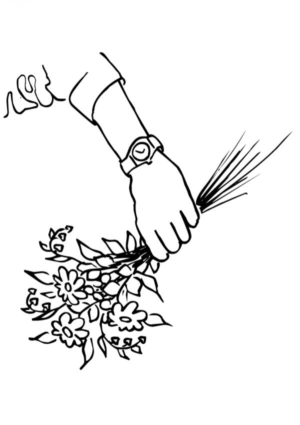 Dibujo para colorear : Flor N°10