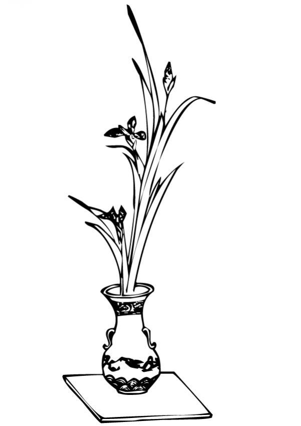 Dibujo para colorear : Flor N°16