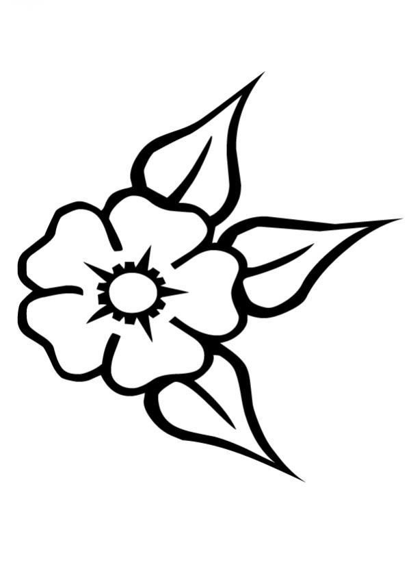 Dibujos de FLORES para pintar, Flor N°25 para imprimir