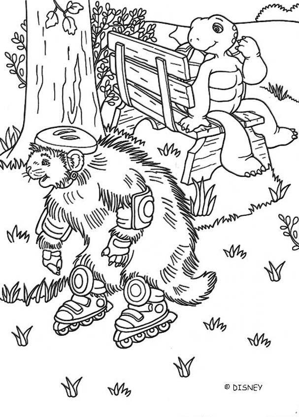 Dibujos para colorear castor patinando - es.hellokids.com